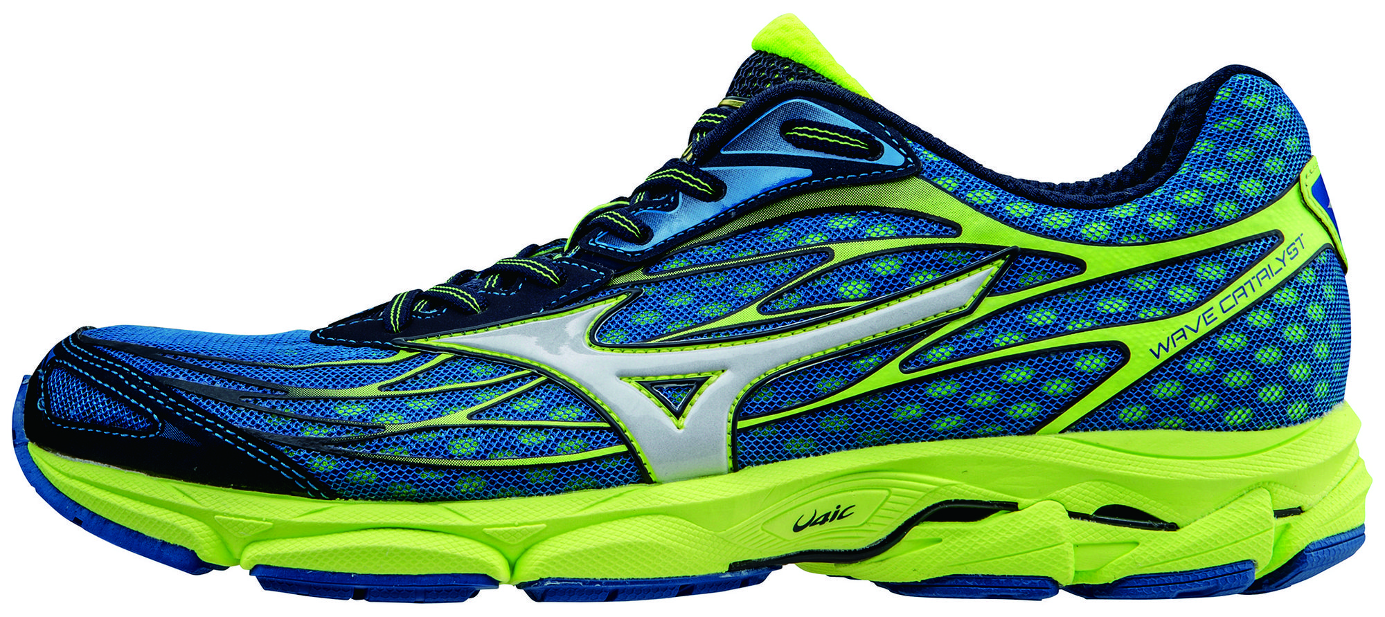 Mizuno Wave Catalyst in Blau Gelb