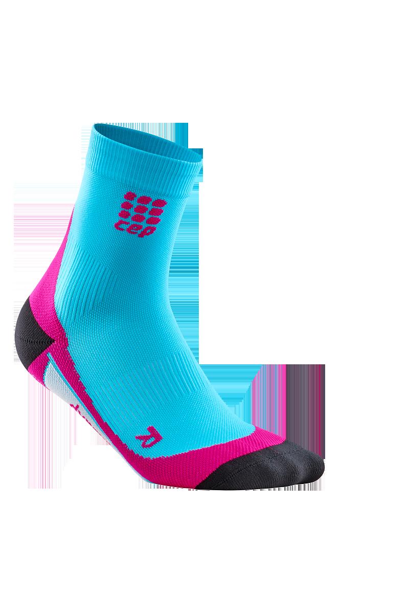 cep W Dynamic Short Socks in Blau Pink