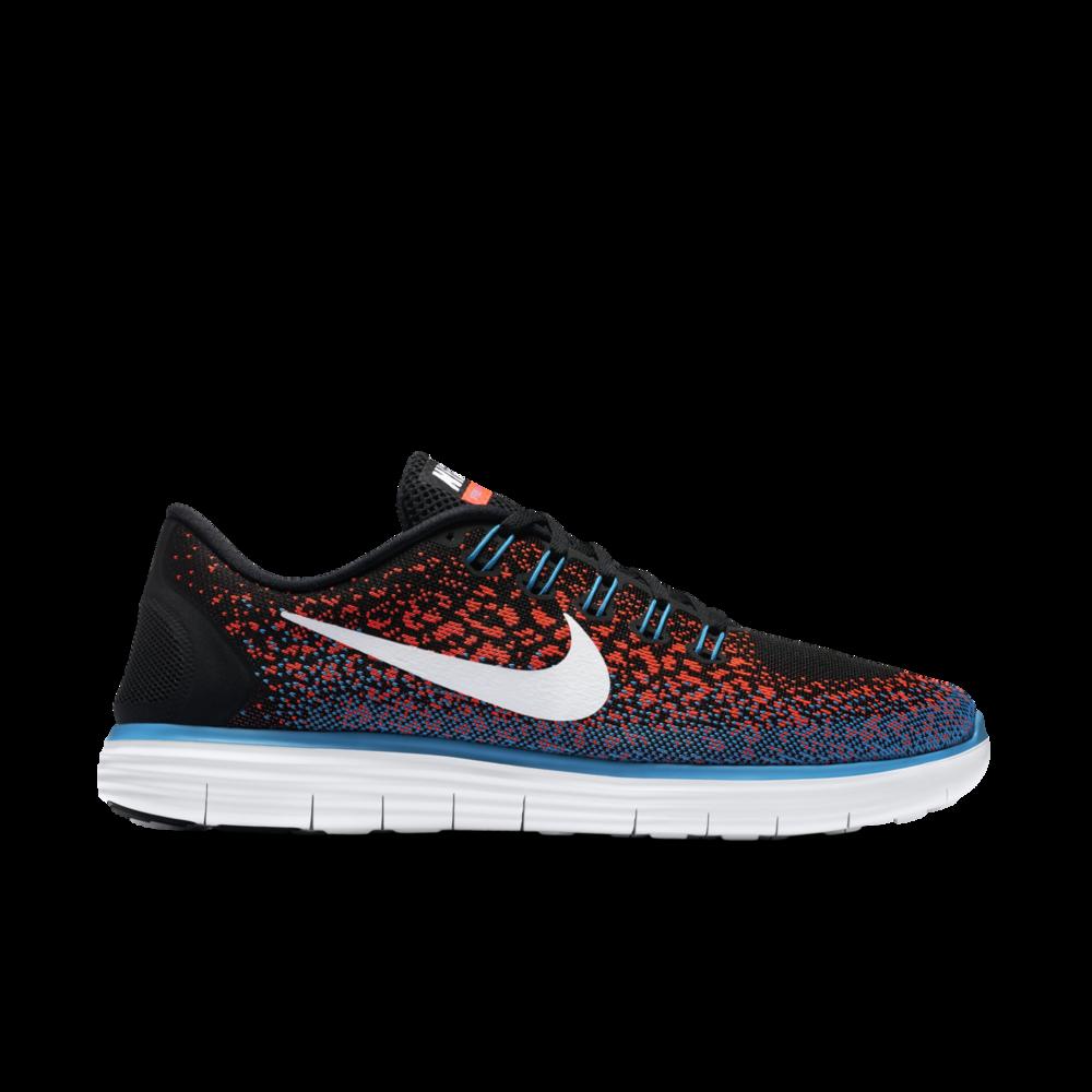 Nike Free Distance in Schwarz Rot Blau