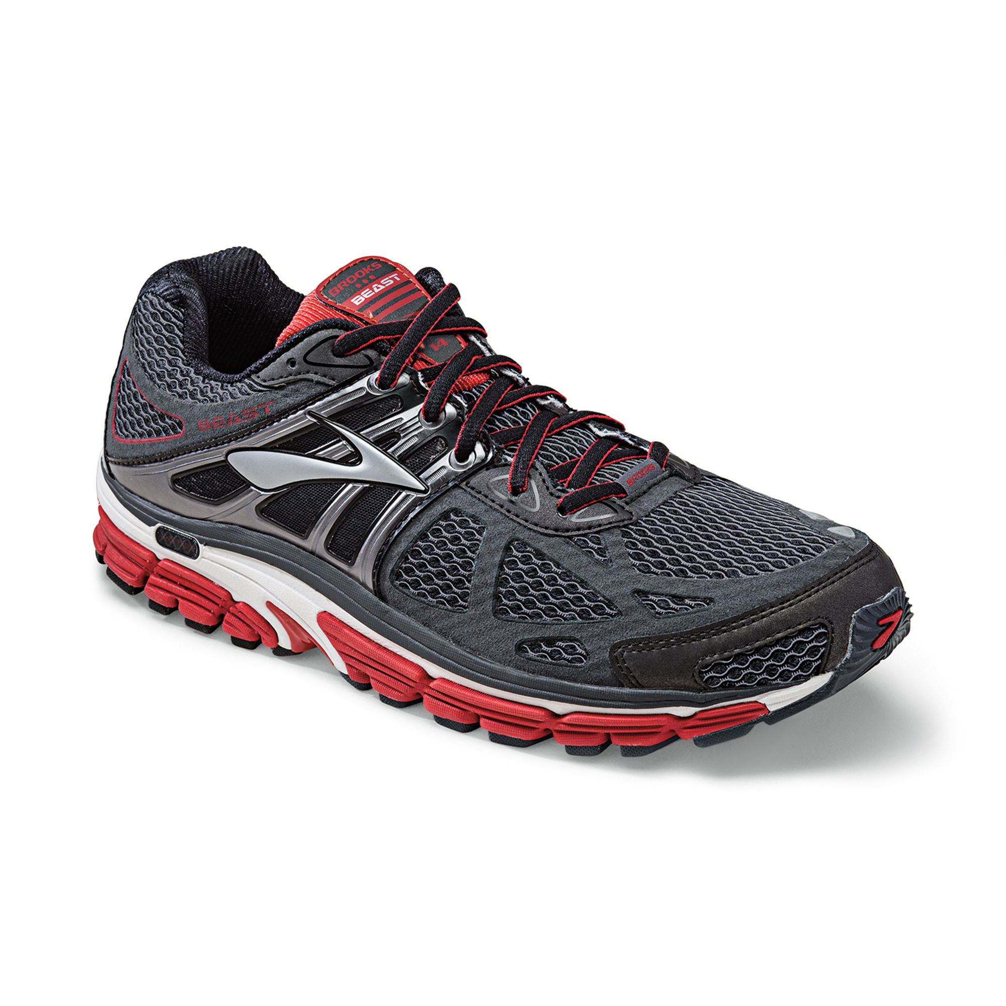Brooks Beast 14 4E in Schwarz Rot