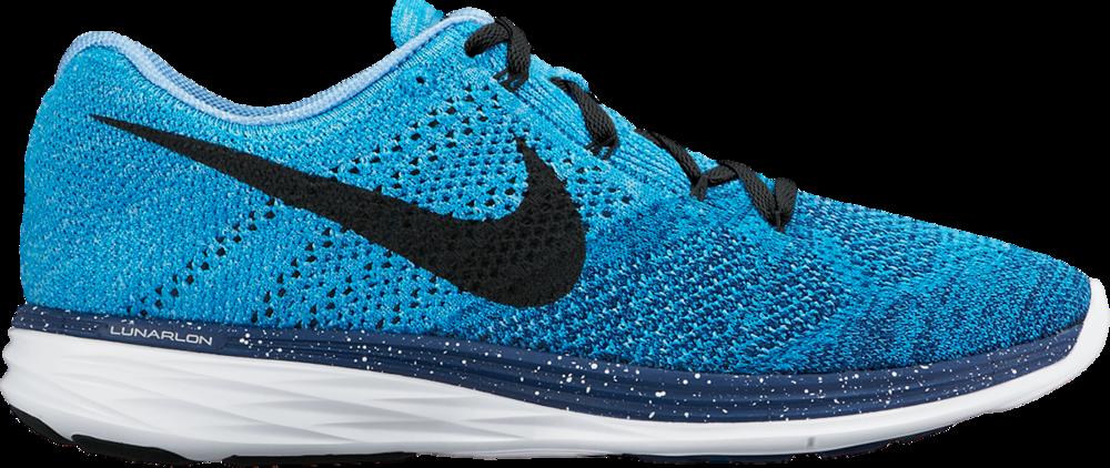 Nike Flyknit Lunar 3 in Blau