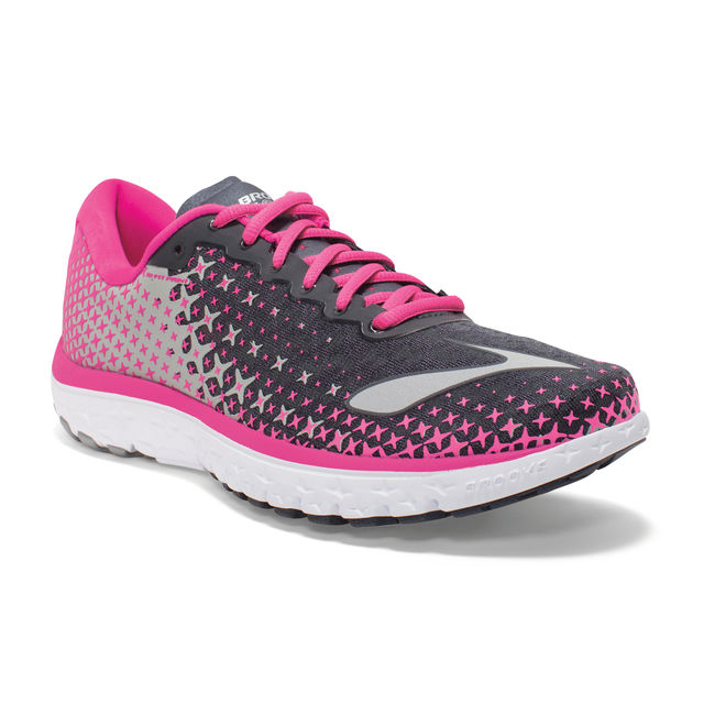 Brooks Lady Pure Flow 5 in Grau Pink