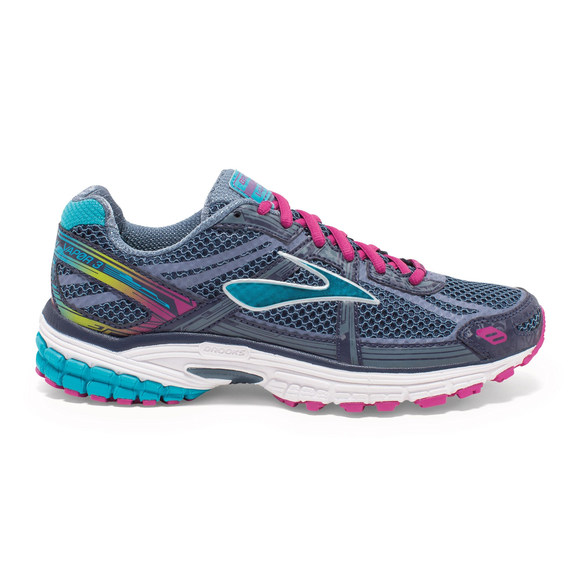 Brooks Lady Vapor 3 in Anthrazit, Blau Lila