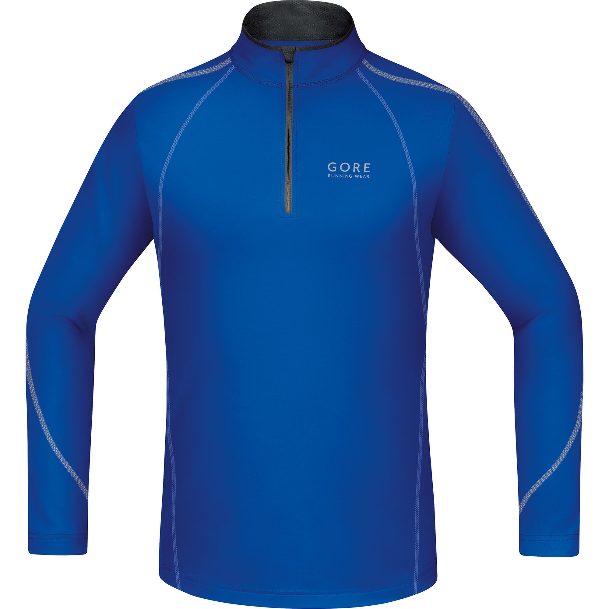 Gore Essential Zip Shirt lang in Blau