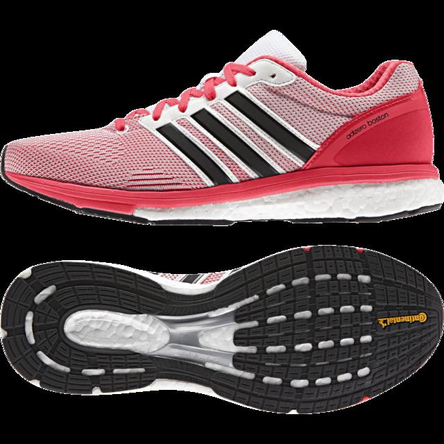 Adidas Lady Adizero Boston Boost in Schock Red