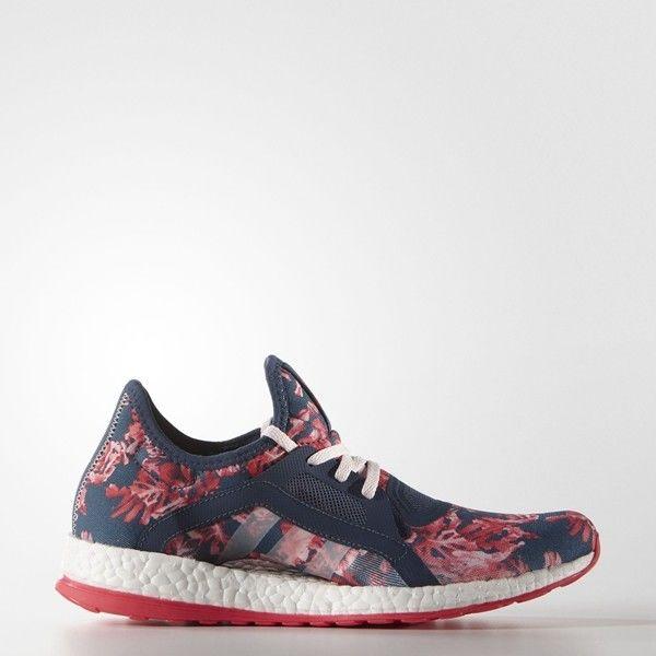 adidas PureBOOST X w in Blau Pink