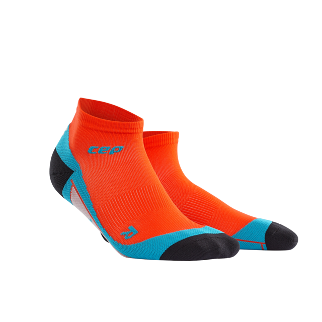 cep Men's Low Cut Socks in Orange Blau