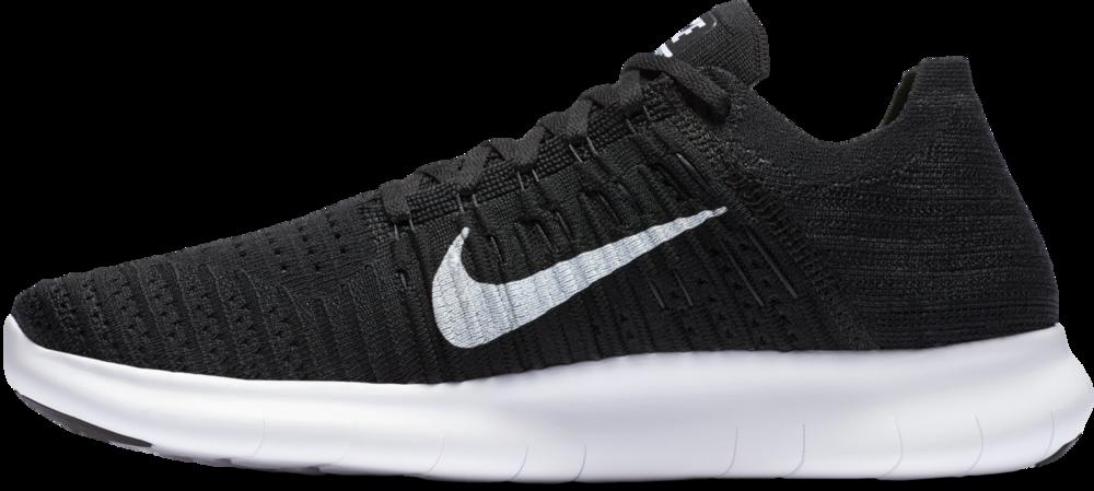 Nike Free Run Flyknit in Schwarz