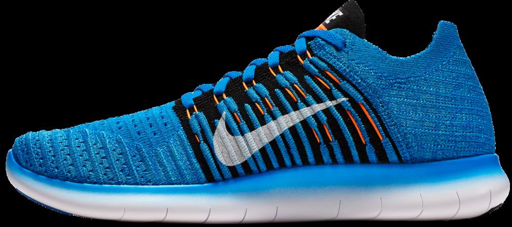 Nike Free Run Flyknit in Blau