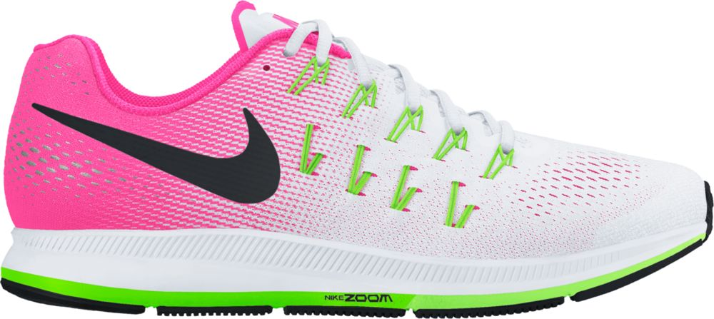 Nike Lady Air Zoom Pegasus 33 in Weiß Pink