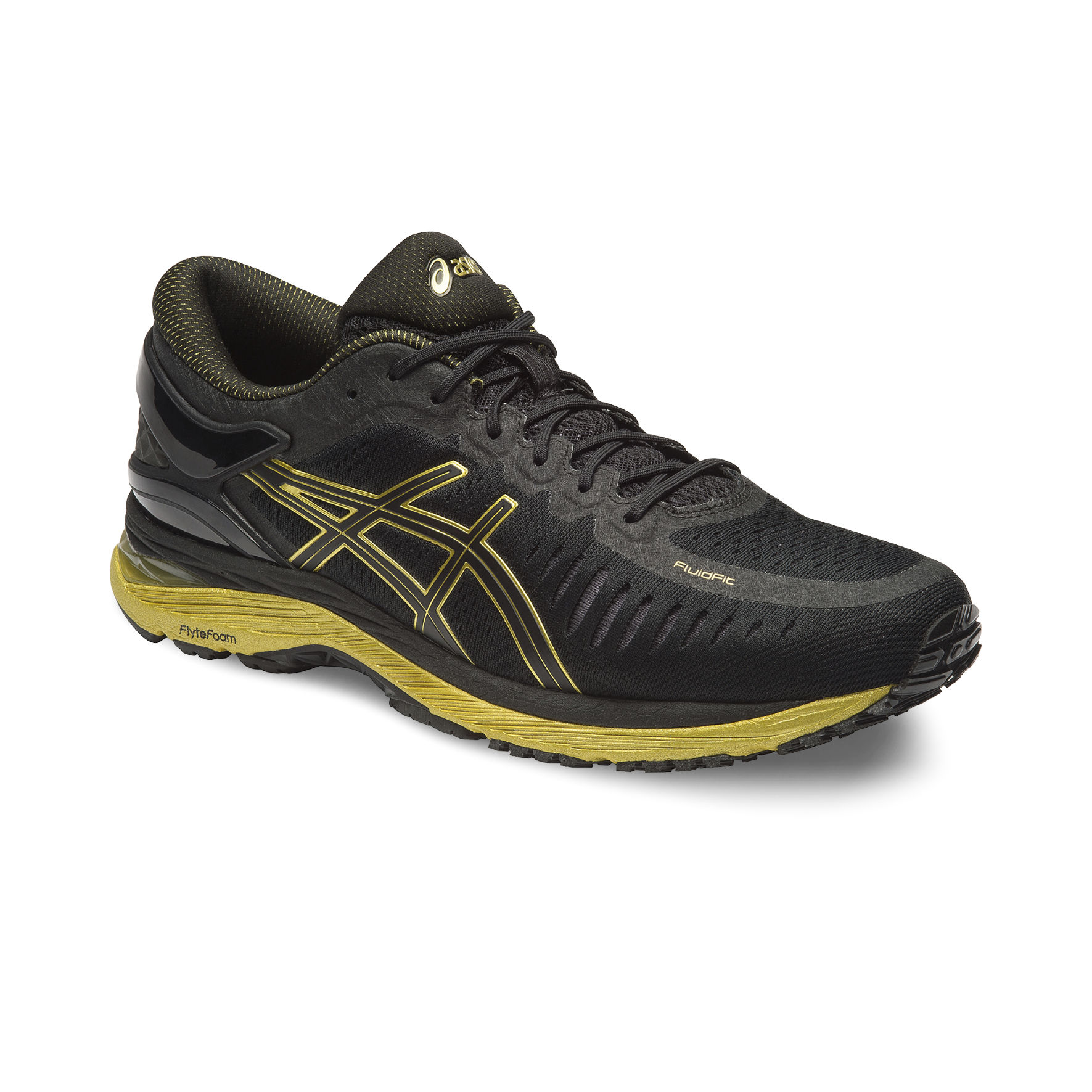 Asics Metarun in Schwarz/Gold