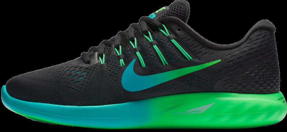 Nike Lunarglide 8 in Schwarz Rot