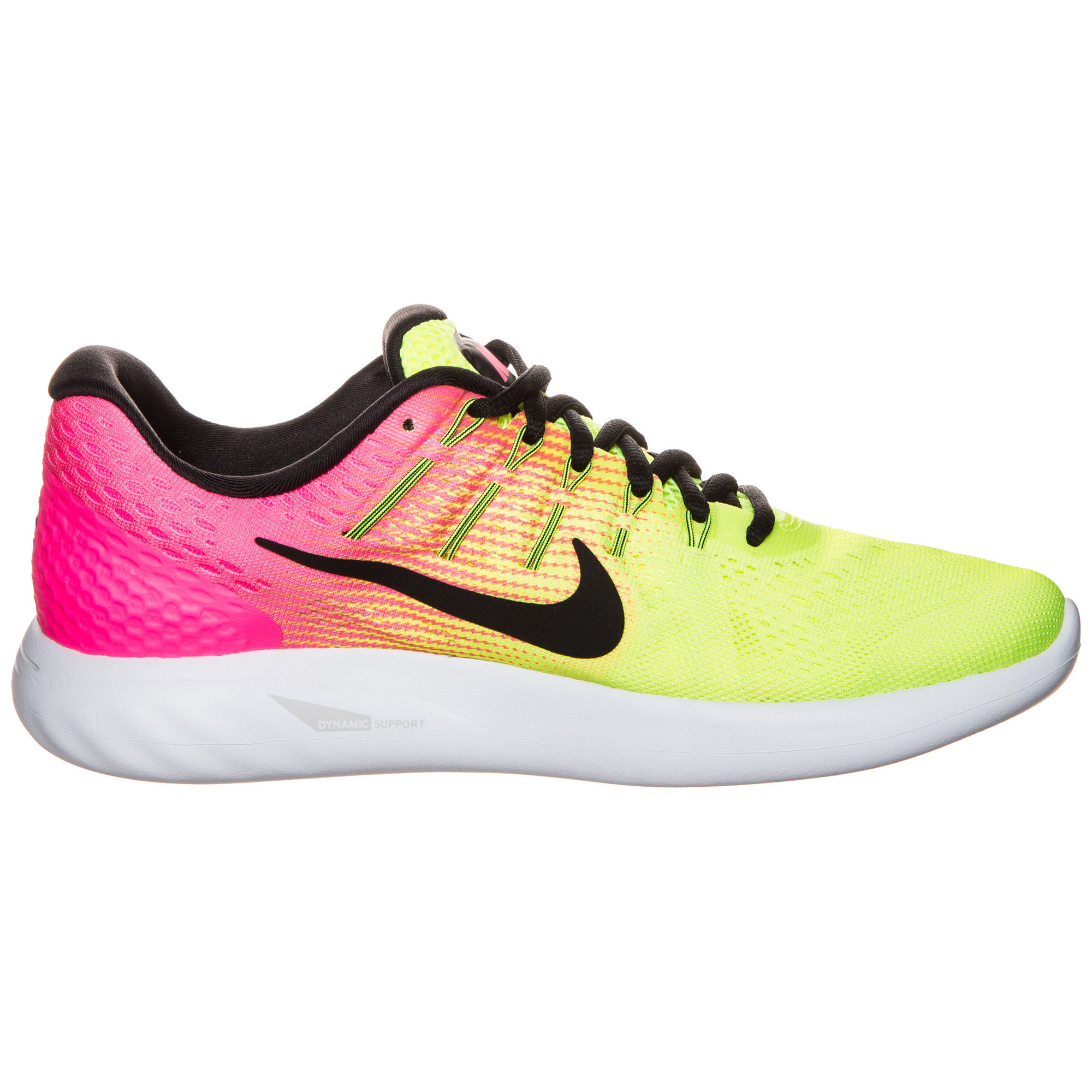 Nike Lady LunarGlide 8 Olympic in Gelb Pink