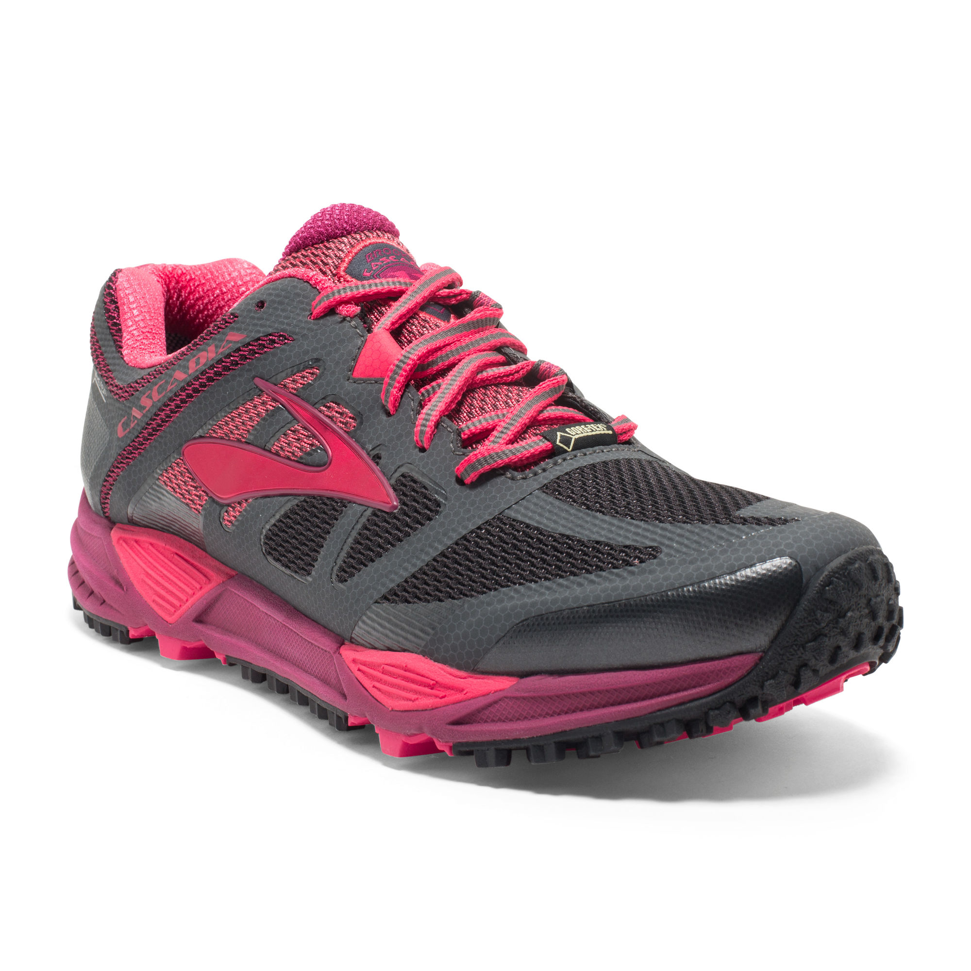 Brooks Lady Cascadia 11 GTX in Grau Pink