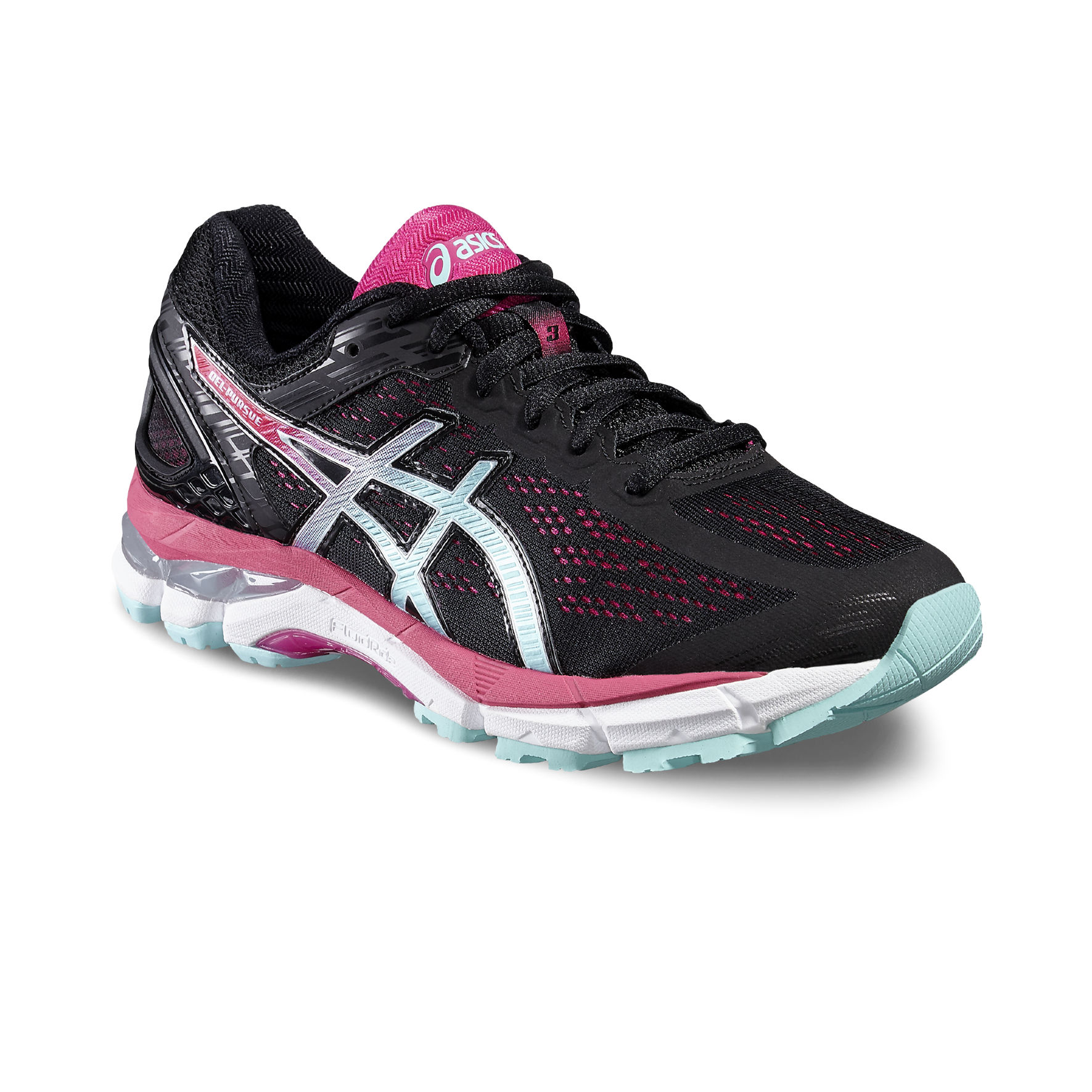 Asics Lady Gel Pursue 3 in Schwarz Lila