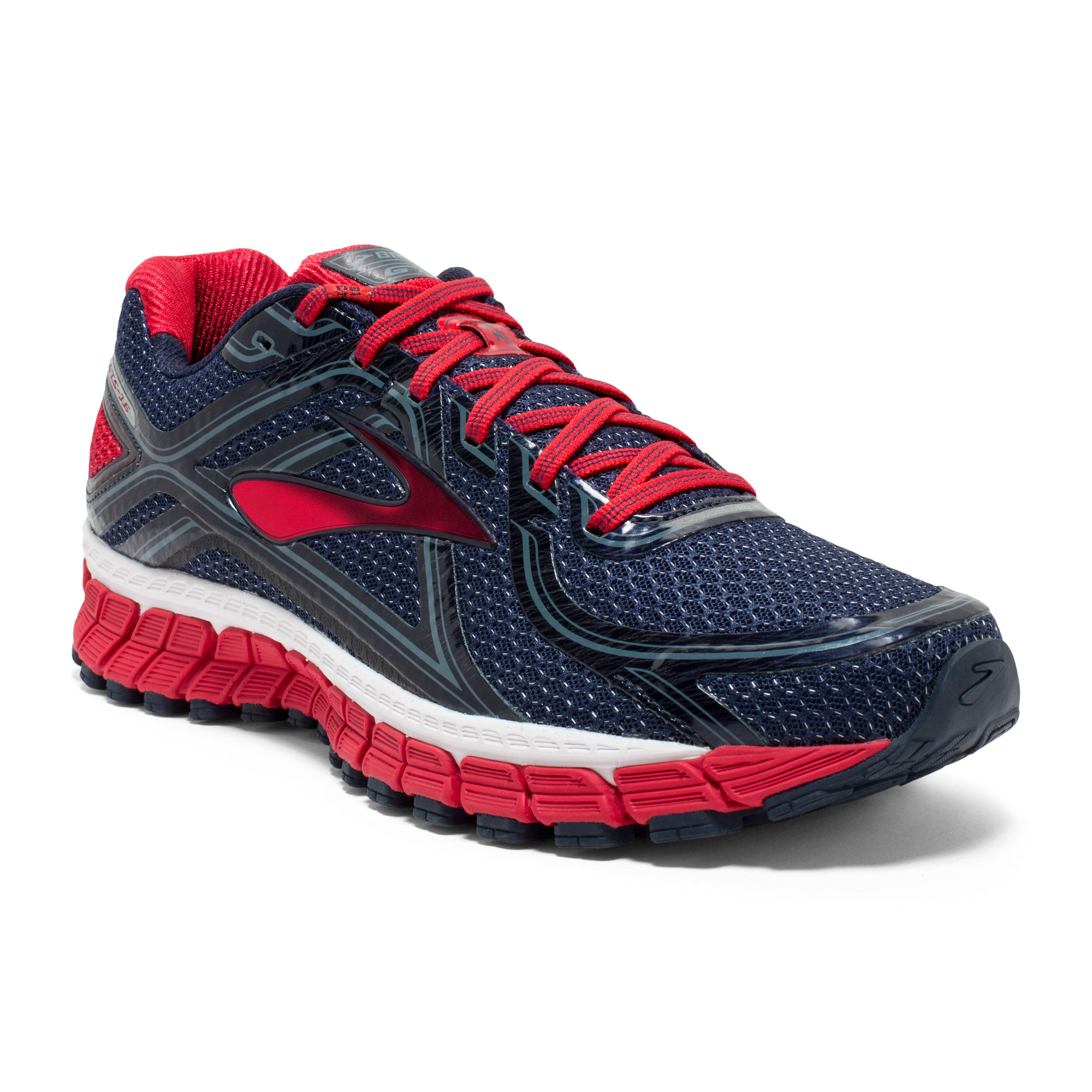 Brooks Adrenaline GTS 16 in Peacoat/Red/Blue