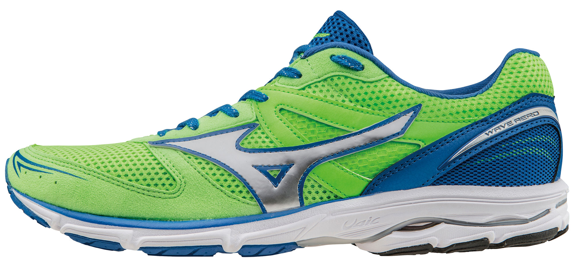 Mizuno Wave Aero 15 in Grün Blau