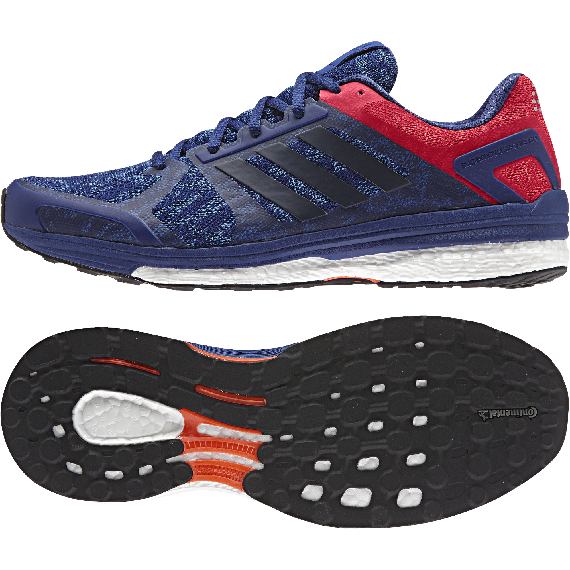 Adidas Sequence Boost 9 in Blau Rot