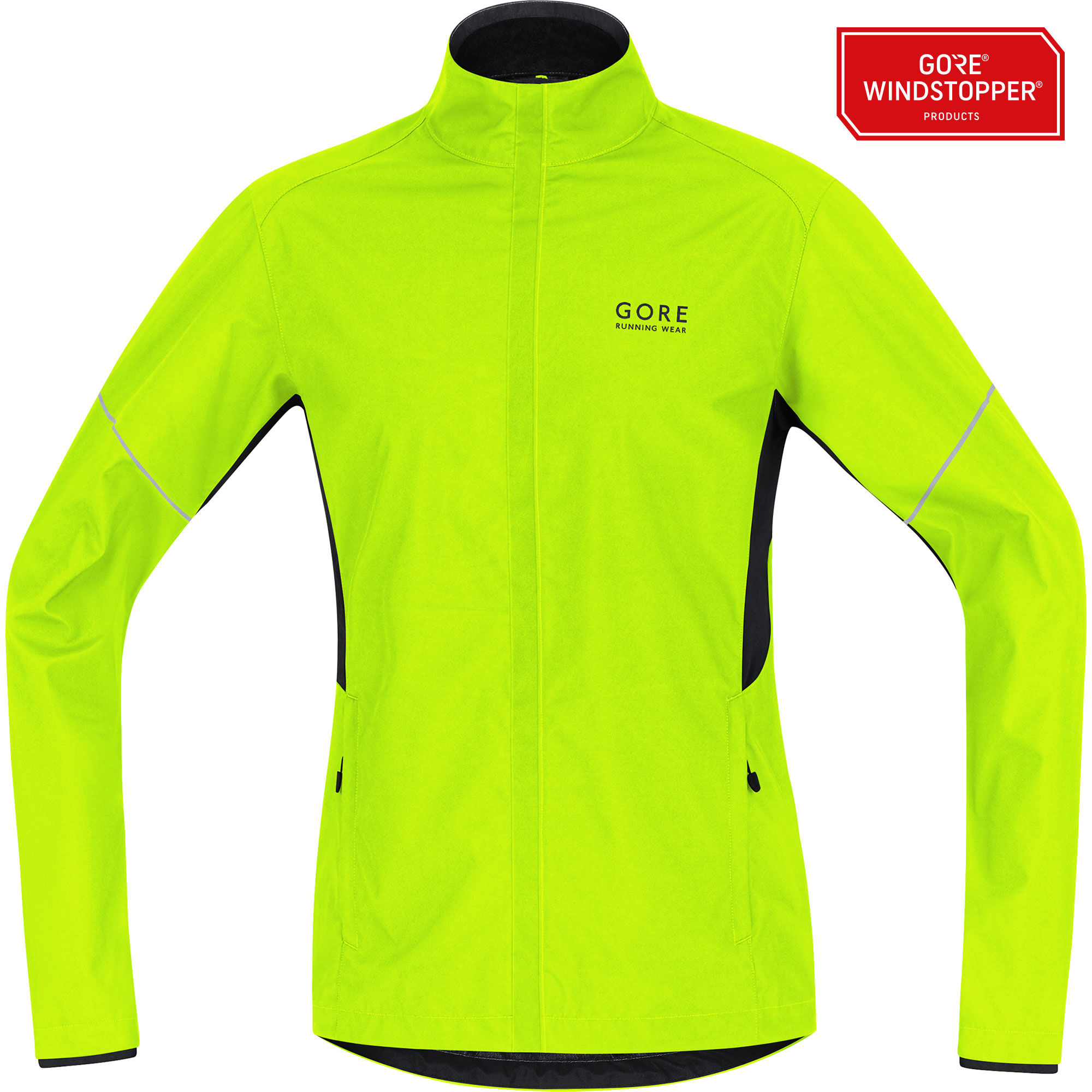 Gore Essential Partial Jacket in Neon Gelb
