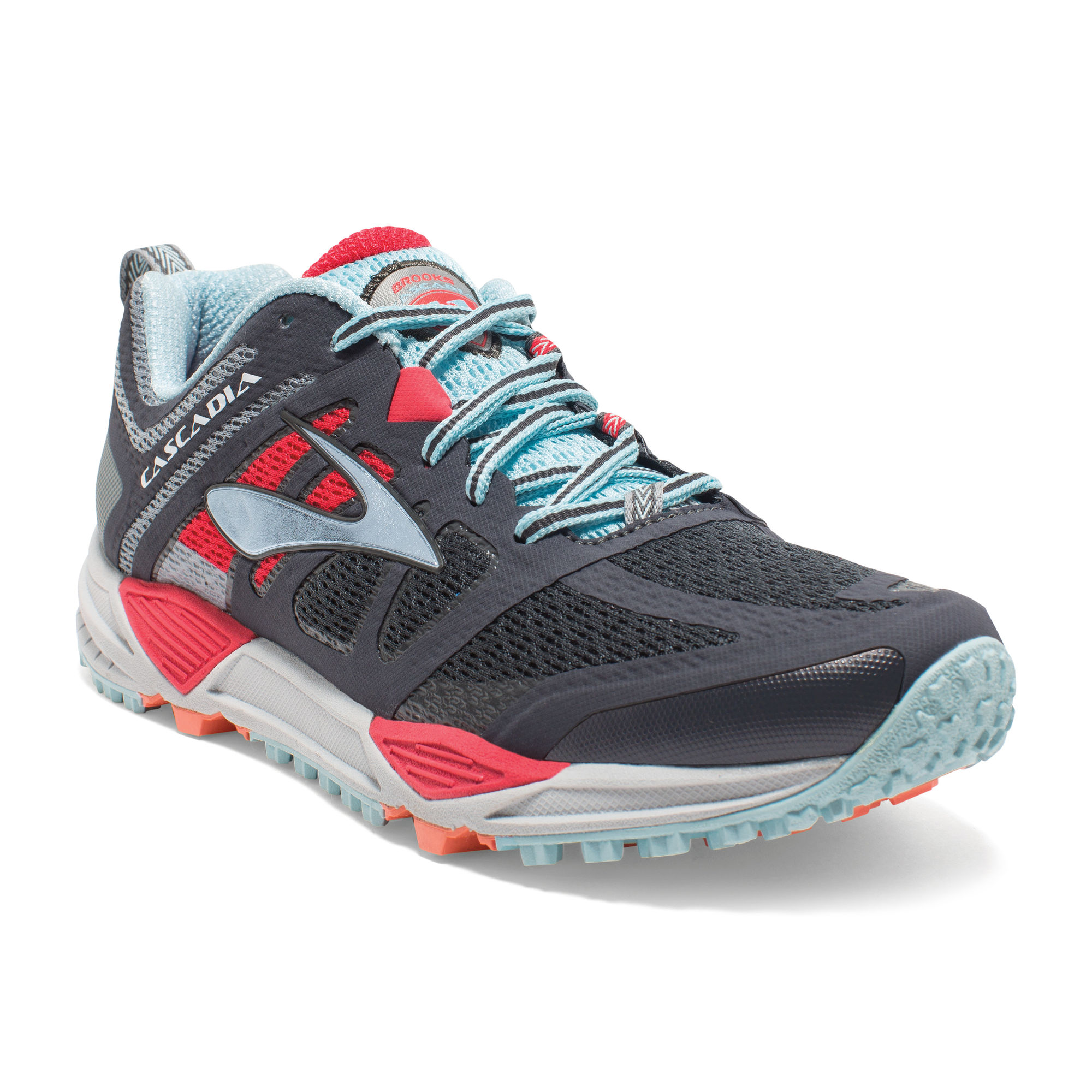 Brooks Lady Cascadia 11 in Anthracite/Hibiscus/Blue