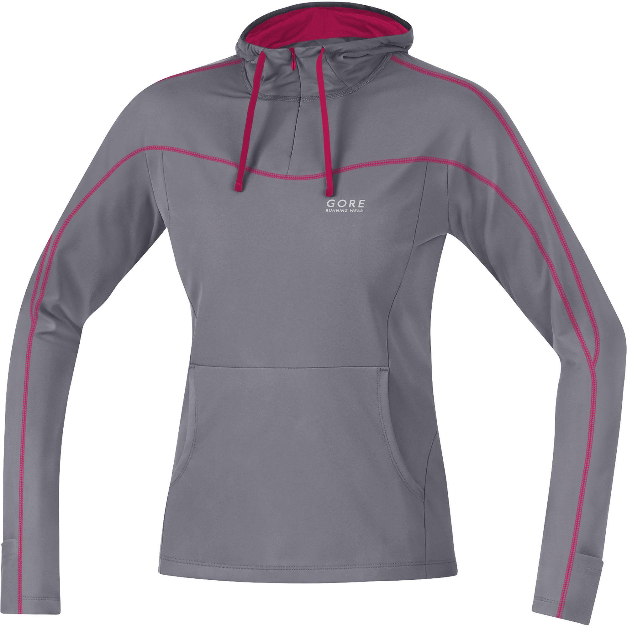 Gore Essential Lady Hoody in Grau Pink