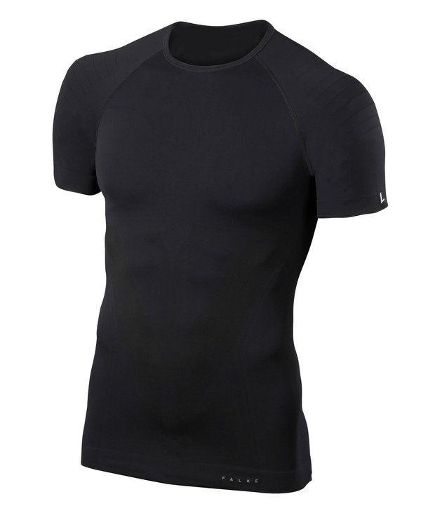 Falke Kurzarmshirt Tight Fit in Schwarz