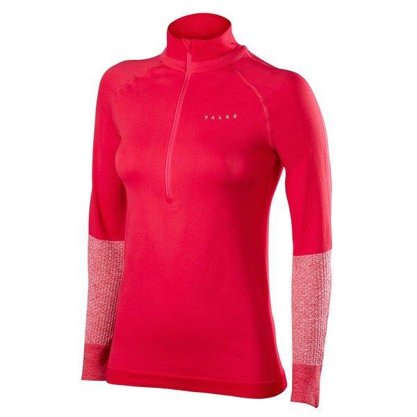 Falke Zip Shirt w in Rot