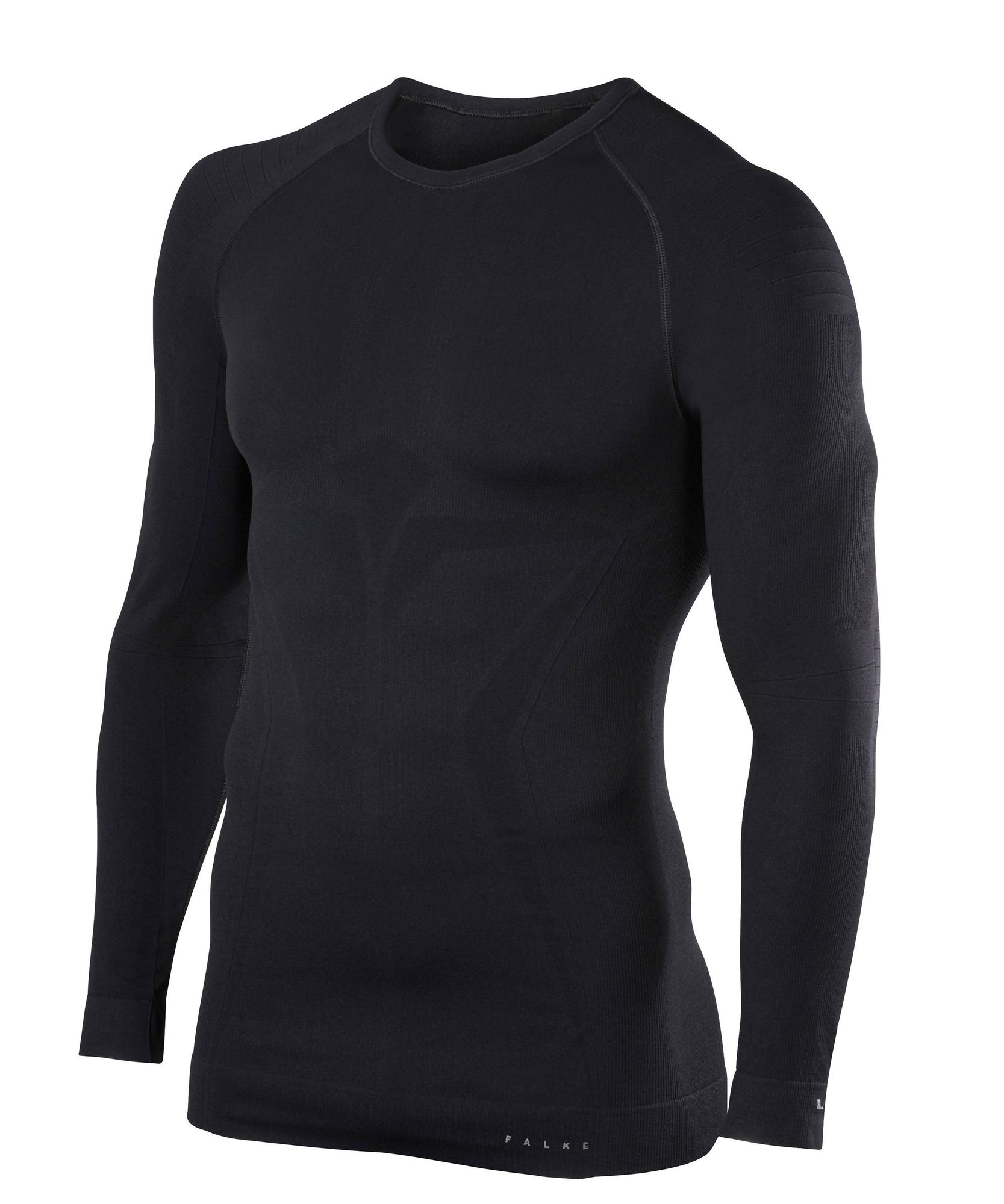 Falke Langarmshirt Maximum Warm in Schwarz