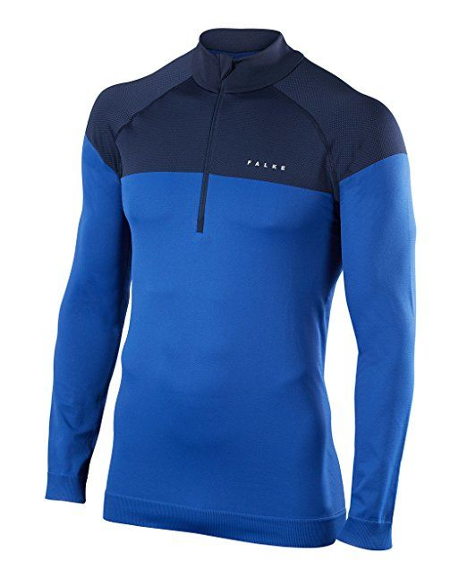 Falke Zip Shirt Light in Blau