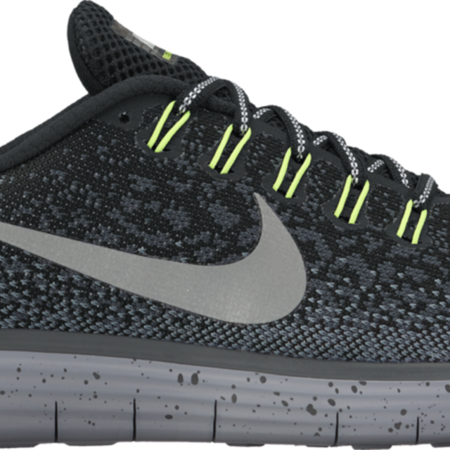Nike Free RN Distance Shield in Anthrazit/Volt
