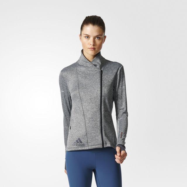 adidas Lady Sequencials Climaheat Sweatsh. in Grau