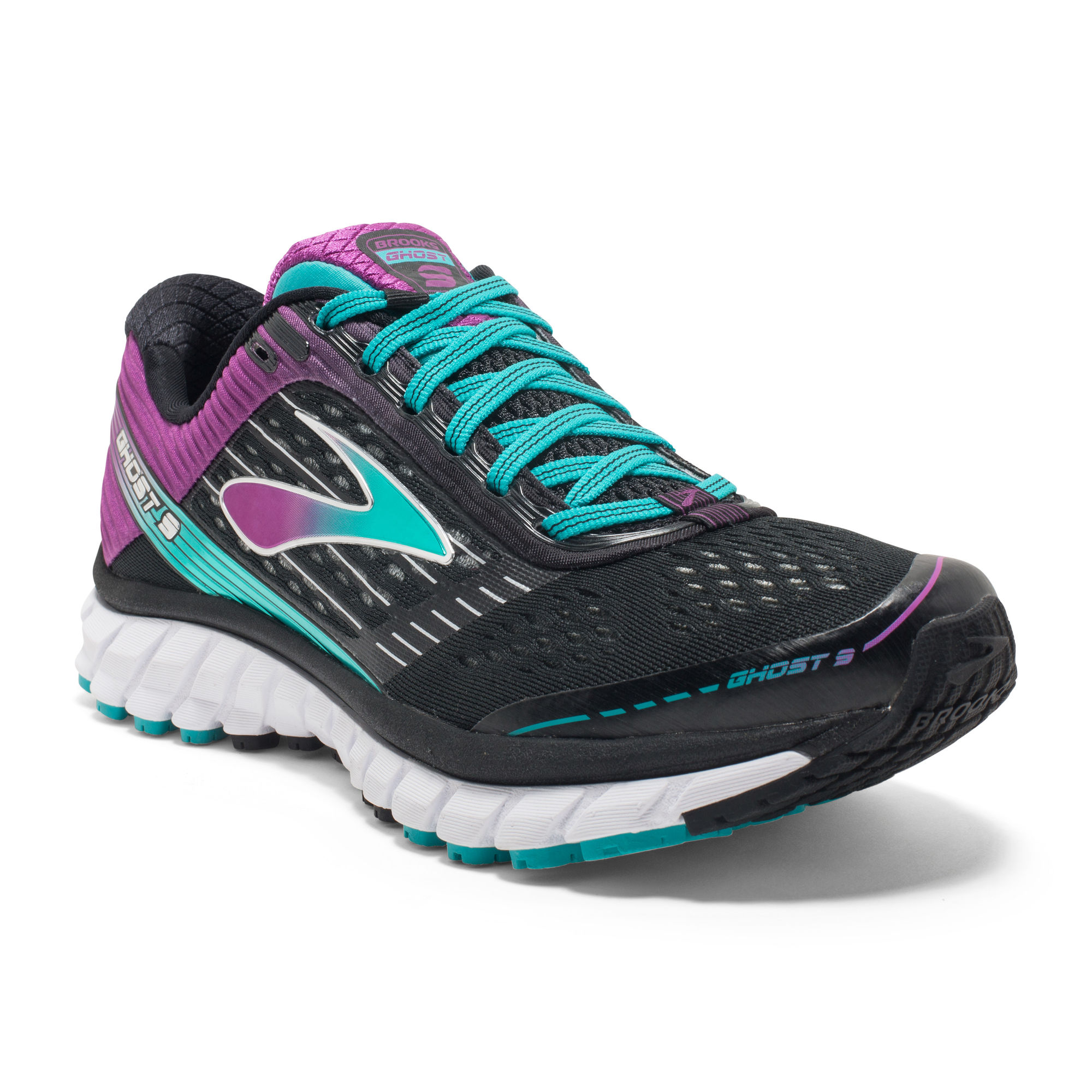 Brooks Lady Ghost 9 2A in Black/Sparkling Grape