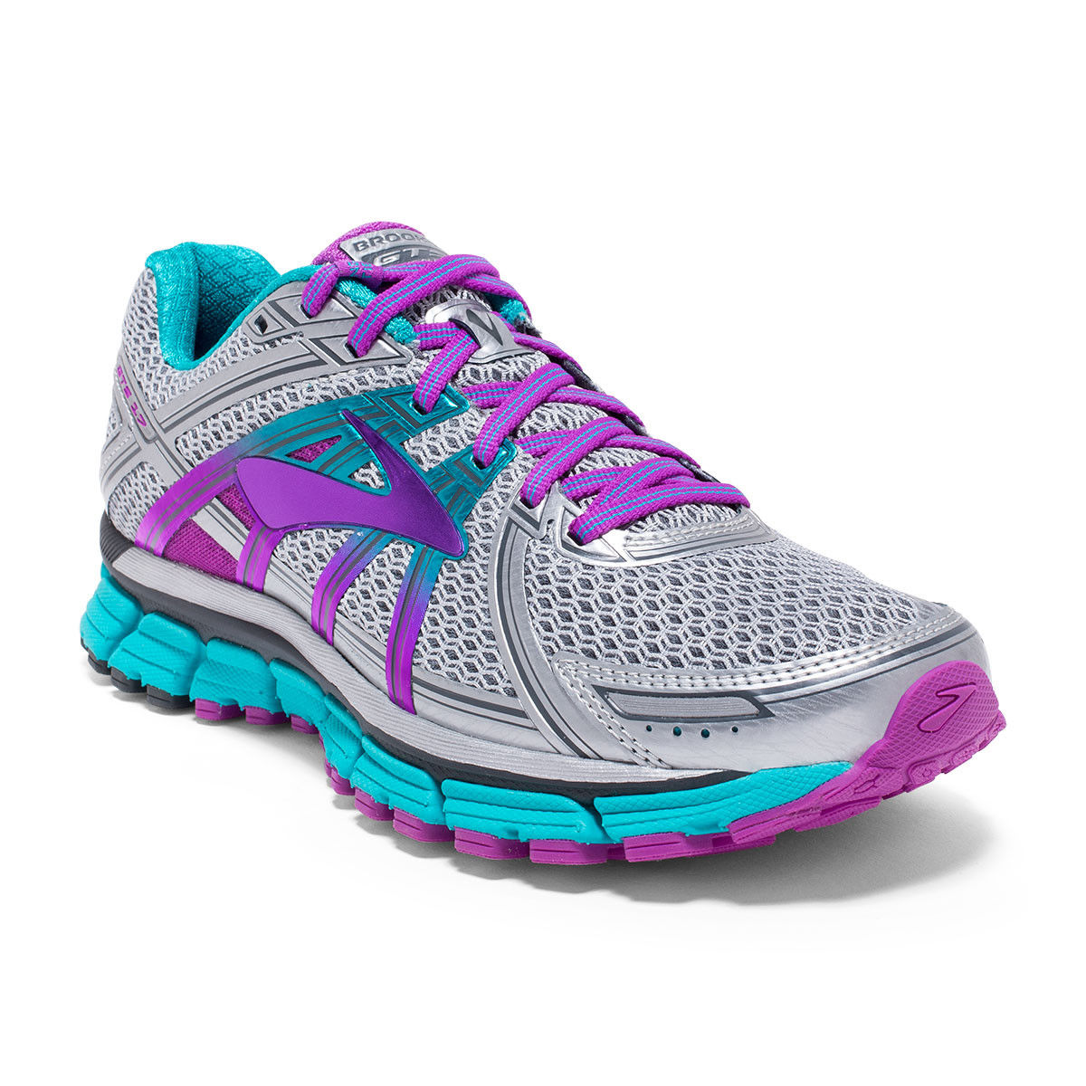 Brooks Lady Adrenaline GTS 17 2A in Silber Purple