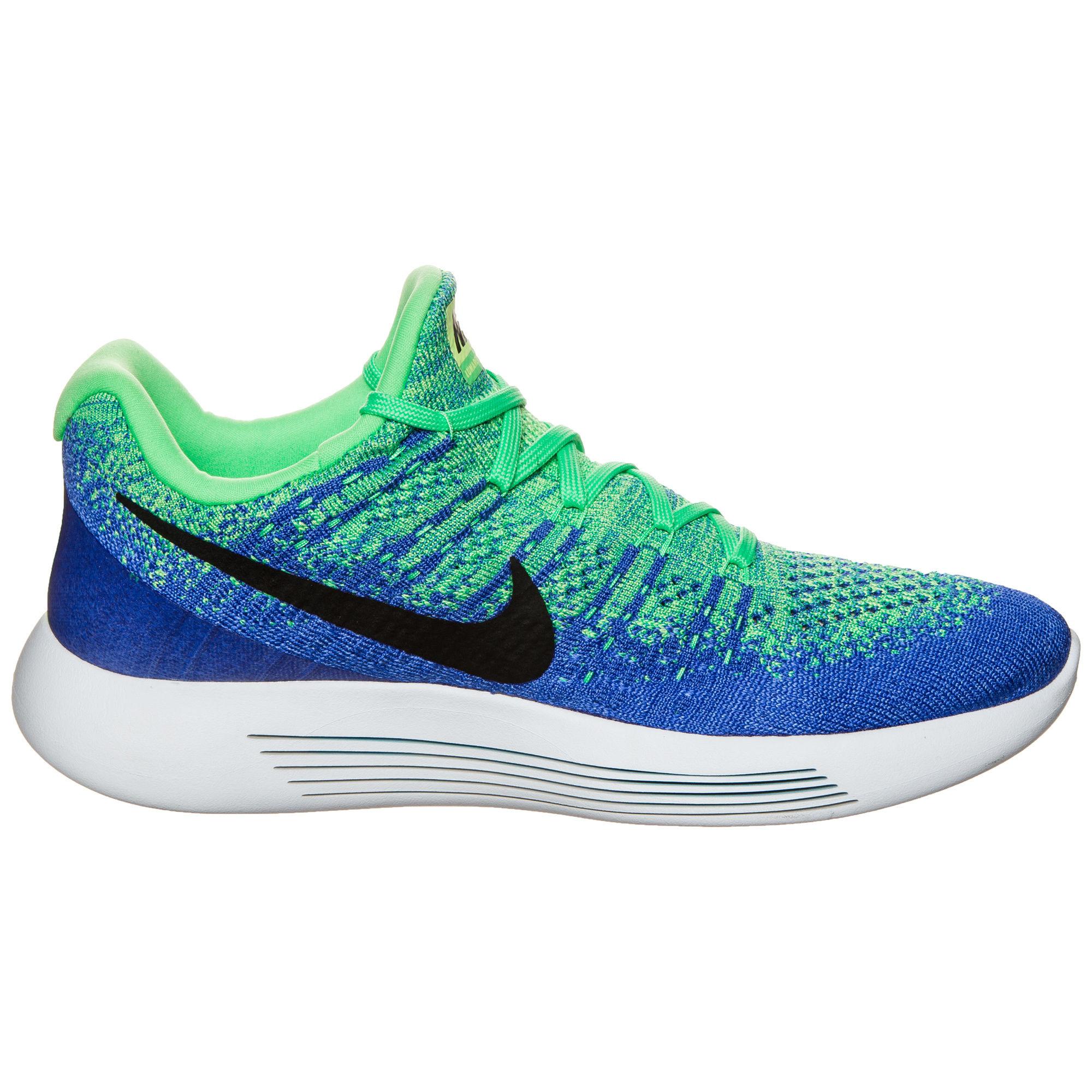 Nike LunarEpic Low Flyknit 2 in Grün Blau