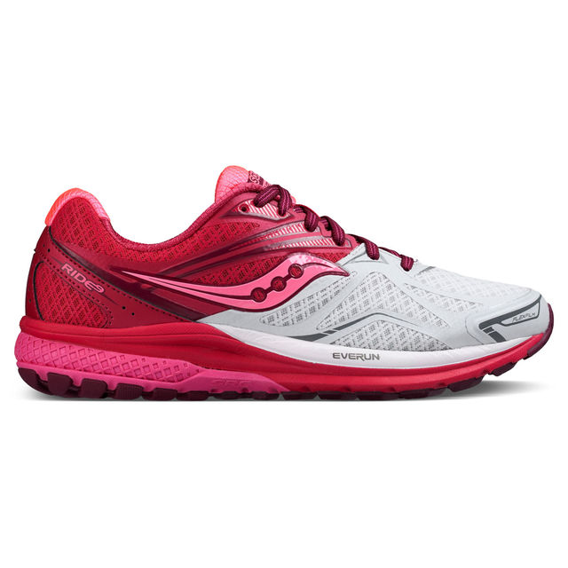 Saucony Lady Ride 9 in White/Berry