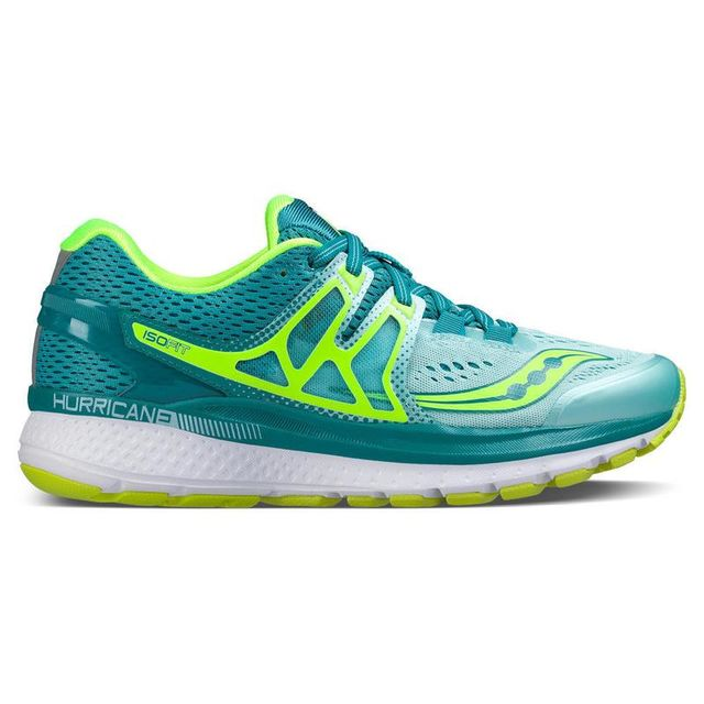 Saucony Lady Hurricane ISO 3 in Teal/Citron