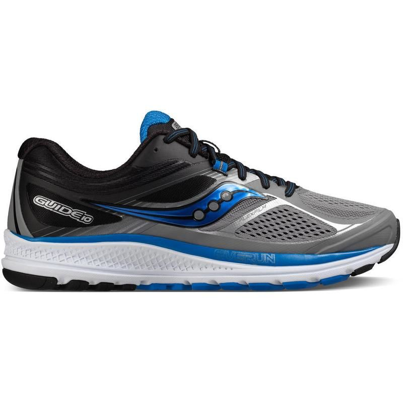 Saucony Guide 10 in Grey/Black/Blue
