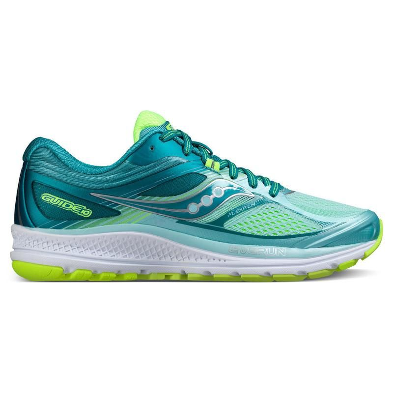 Saucony Lady Guide 10 in Teal/Citron
