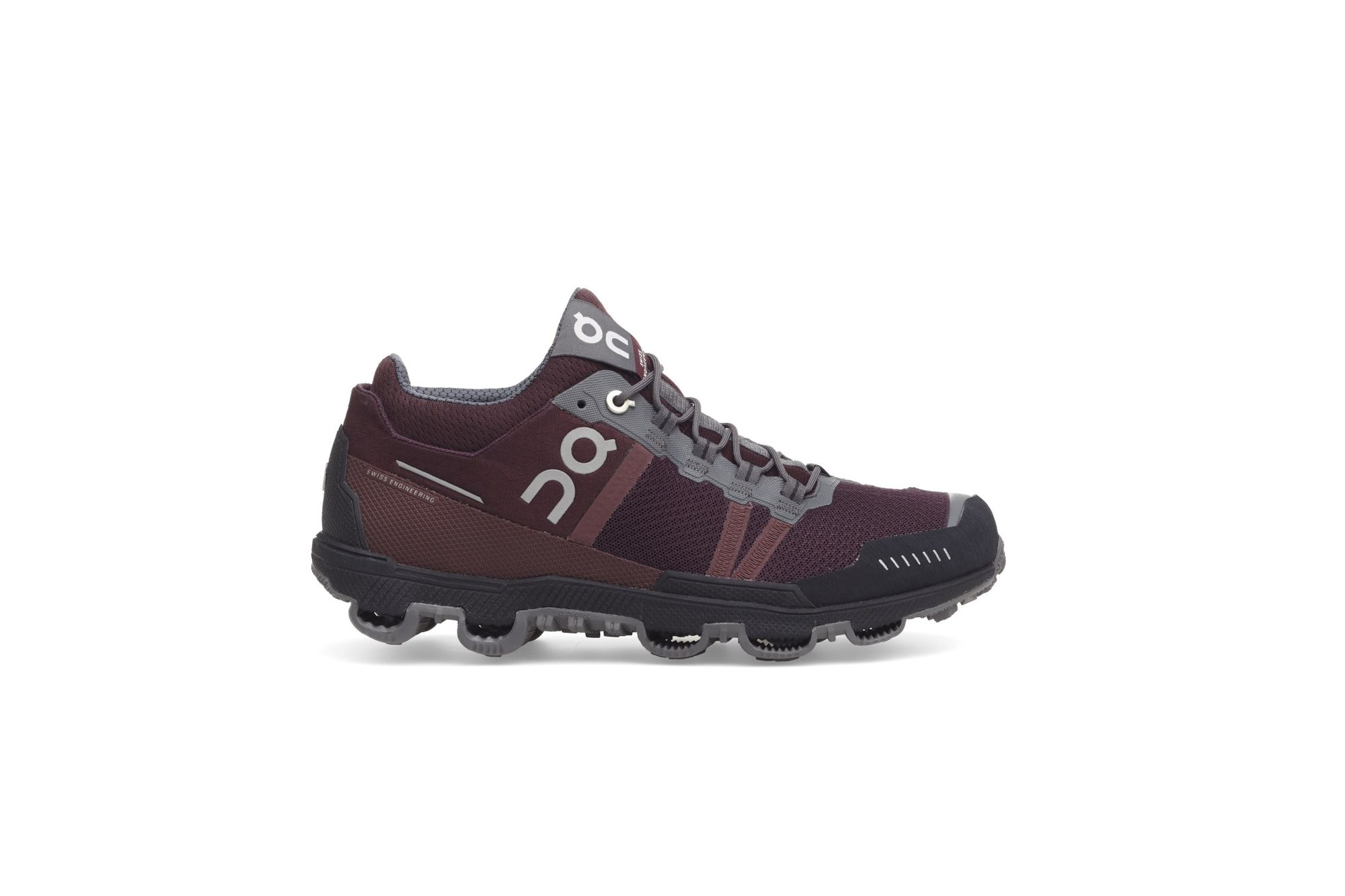 On Lady Cloudventure midtop in Mulberry Grey