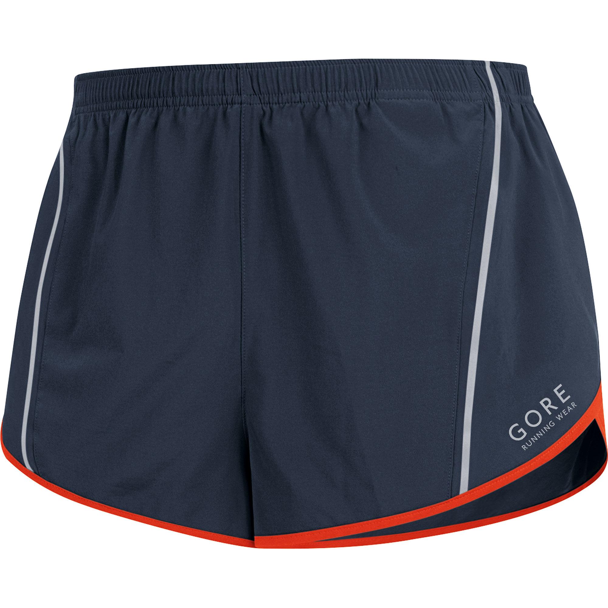 Gore Mythos 3.0 Split Shorts in Schwarz Orange