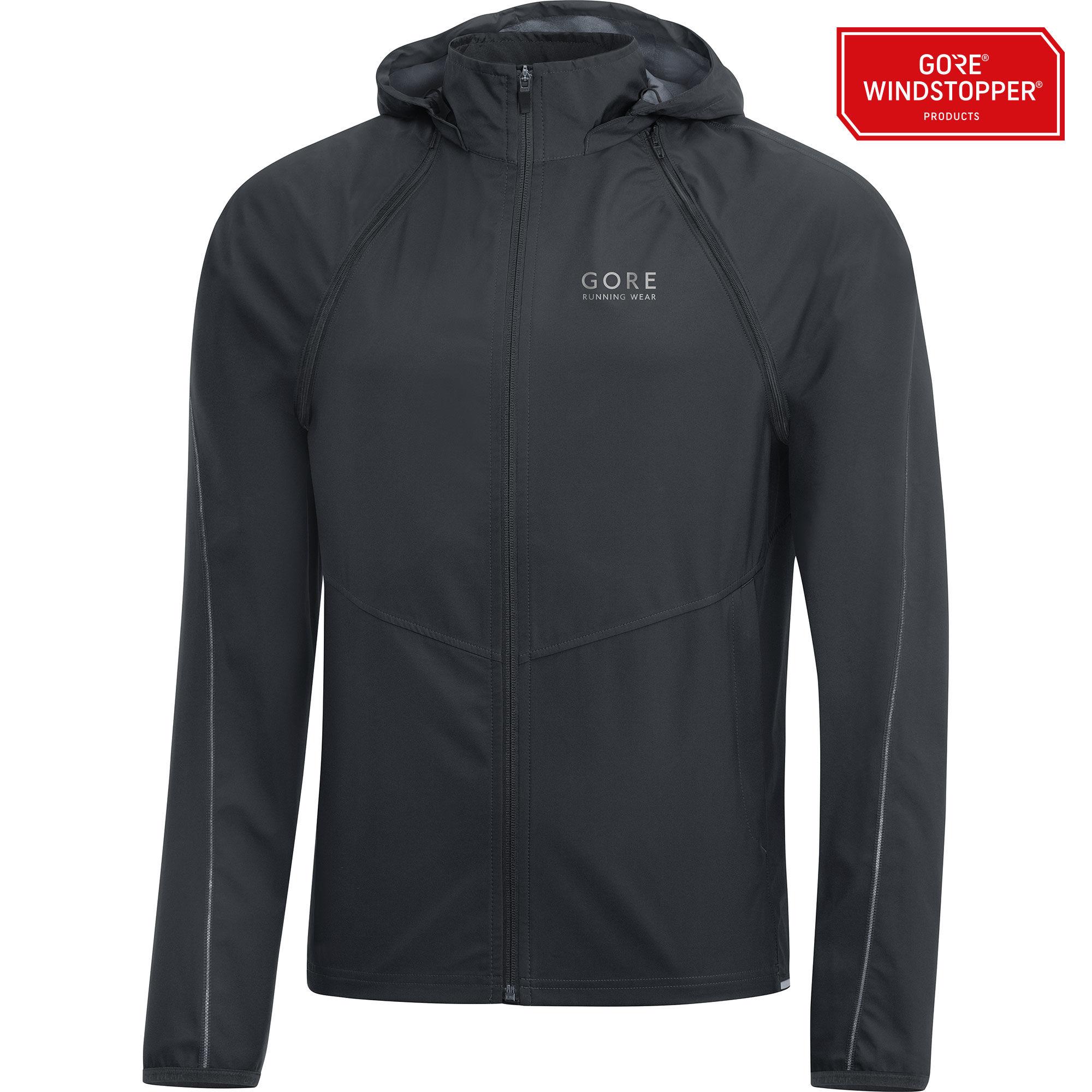 Gore Essential GWS Zip-Off Jacket in Schwarz
