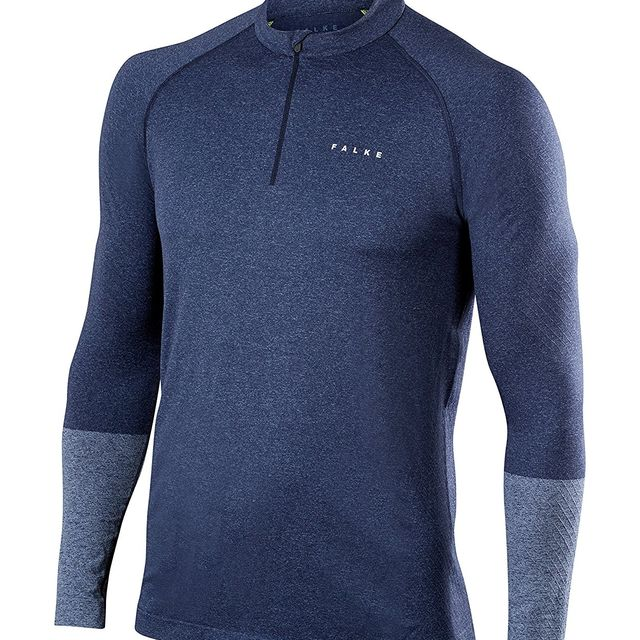 Falke Zip Shirt in Blau