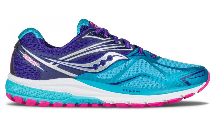 Saucony Lady Ride 9 in Navy/Blue/Pink