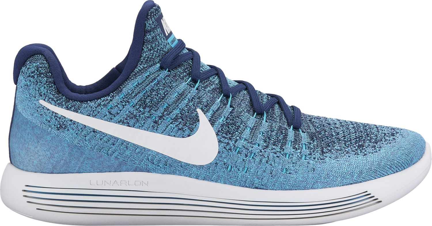 Nike LunarEpic low Flyknit 2 in Blau