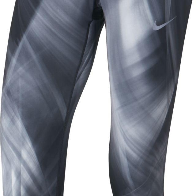Nike Epic Run Crop Printed in Schwarz Grau