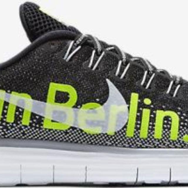 Nike Lady Free RN Distance Berlin in Schwarz