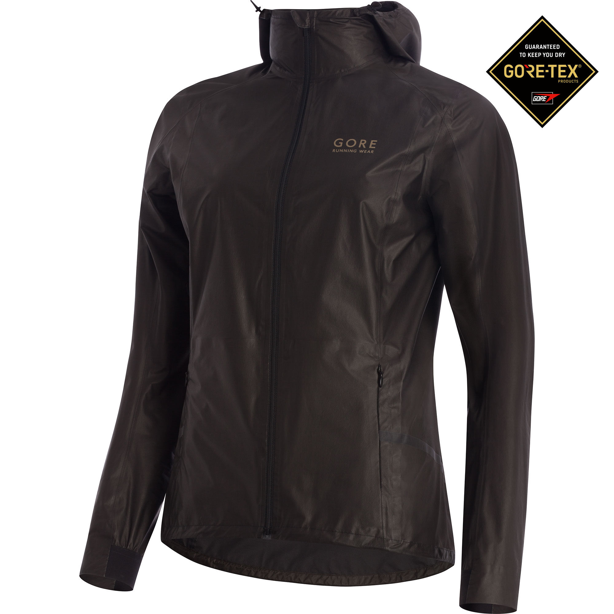 Gore One Lady GTX Active Run Jacket in Schwarz
