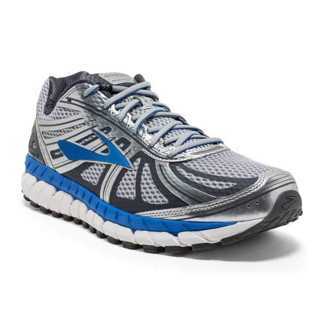 Brooks Beast 16 2E in Silber Blau