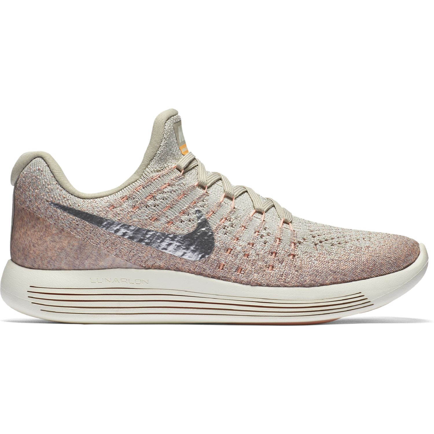 Nike Lady LunarEpic low Flyknit 2 in Grau Silber