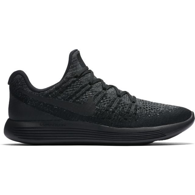 Nike LunarEpic low Flyknit 2 in Schwarz